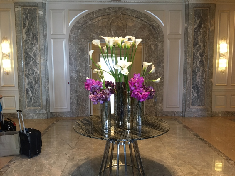 Ritz-Carlton San Francisco Lobby Flowers