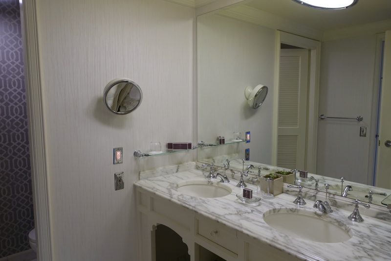 Ritz-Carlton San Francisco Marble Bathroom: Double Sinks