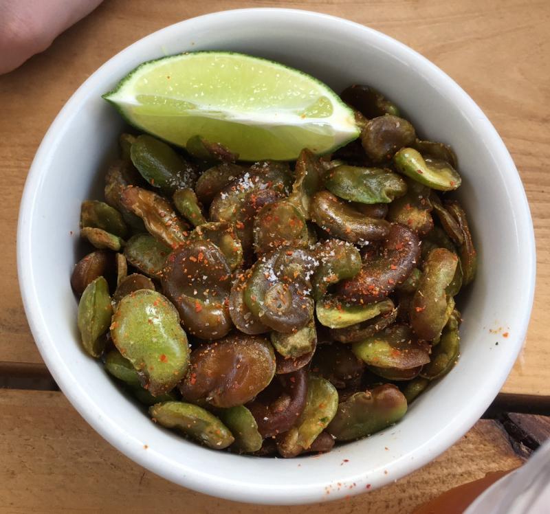 Crispy Fava Beans, Lavender Lake Review