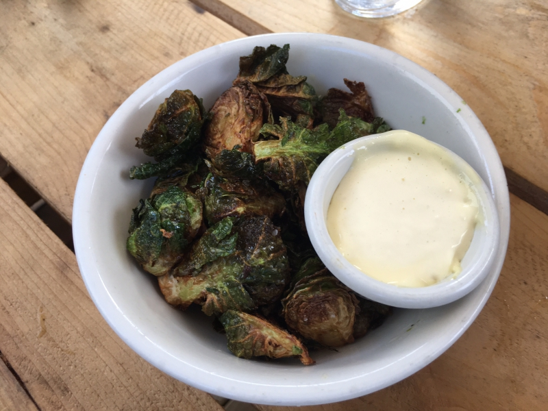 Crispy Brussels Sprouts, Lavender Lake Review