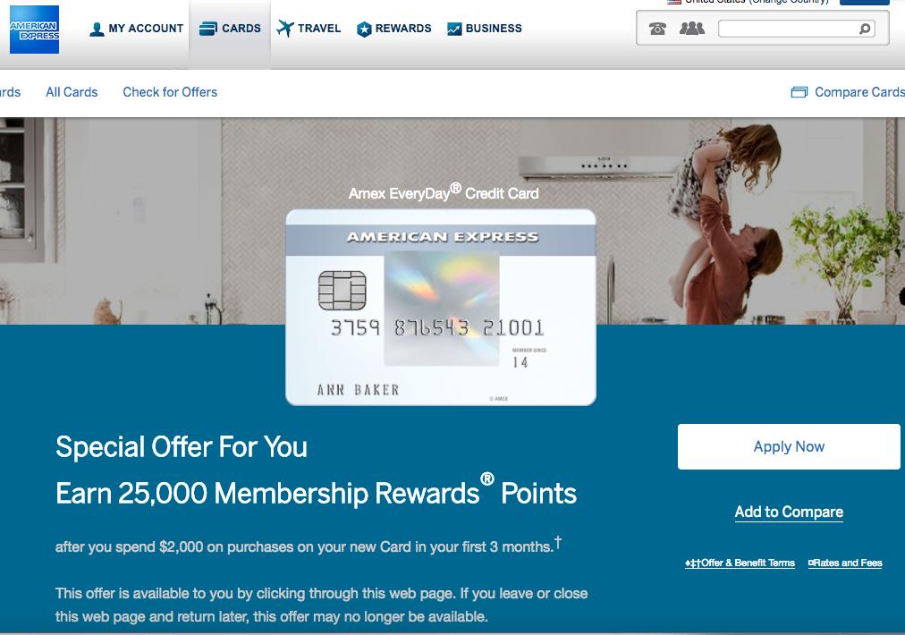 25k Amex Everyday Bonus Offer How I Got It