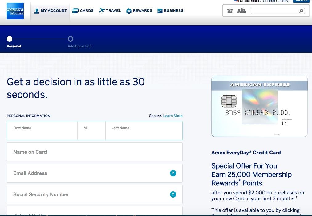 25K AMEX EveryDay Bonus Offer