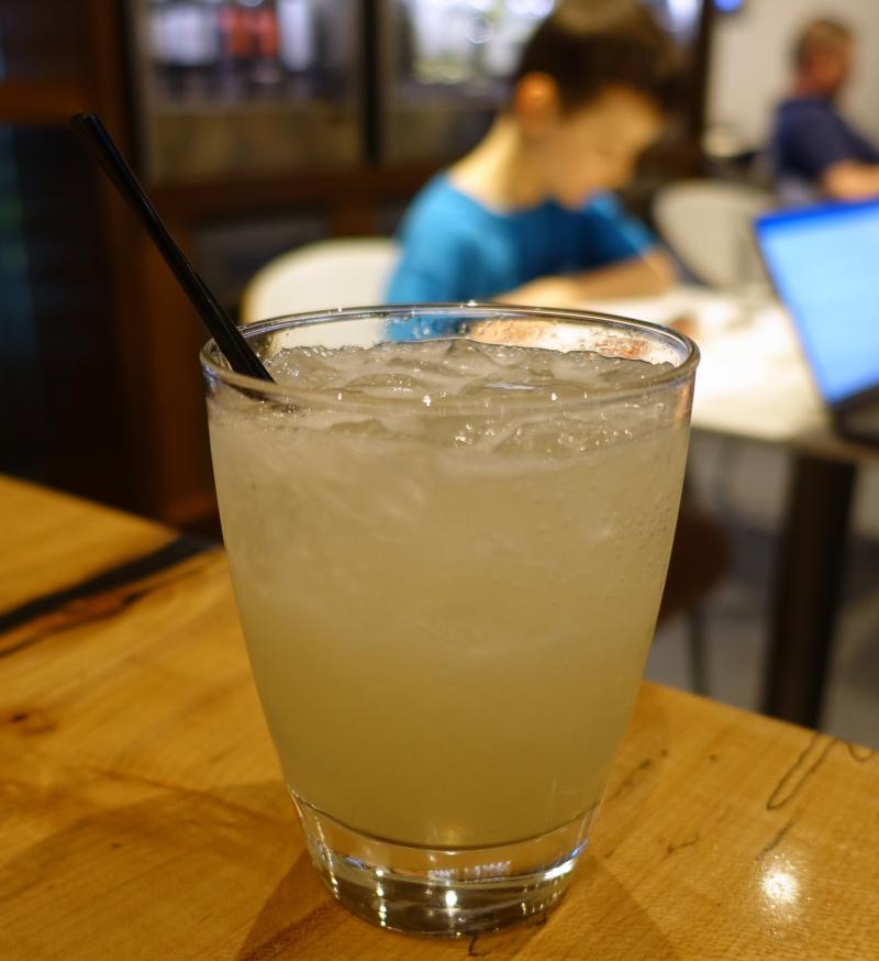 Gin Basil Fizz, AMEX Centurion Lounge SFO 2017 Review