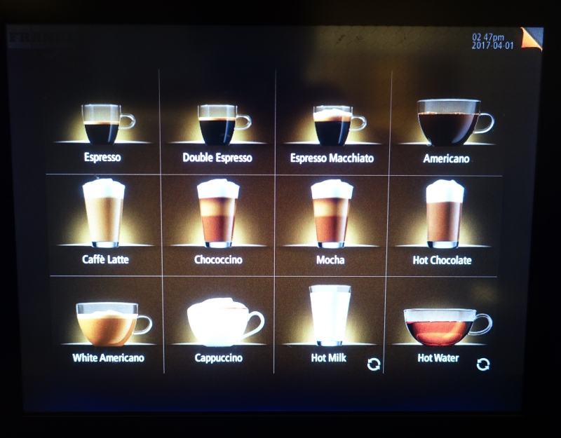 Espresso Drink Machine, AMEX Centurion Lounge SFO Review