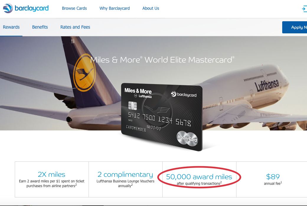 50K Lufthansa Miles & More Bonus Offer