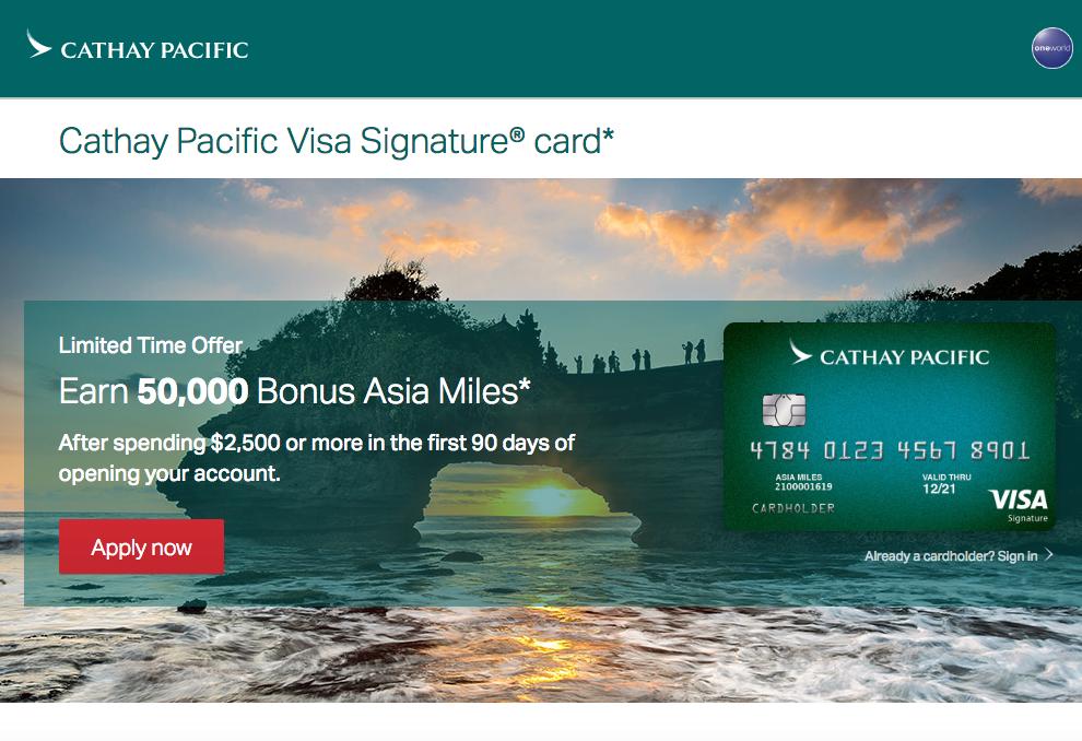 50K Asia Miles Bonus Offer