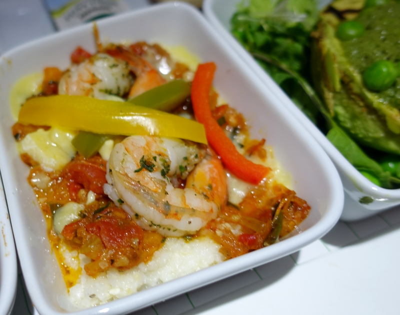 Shrimp and Grits, JetBlue Mint Review