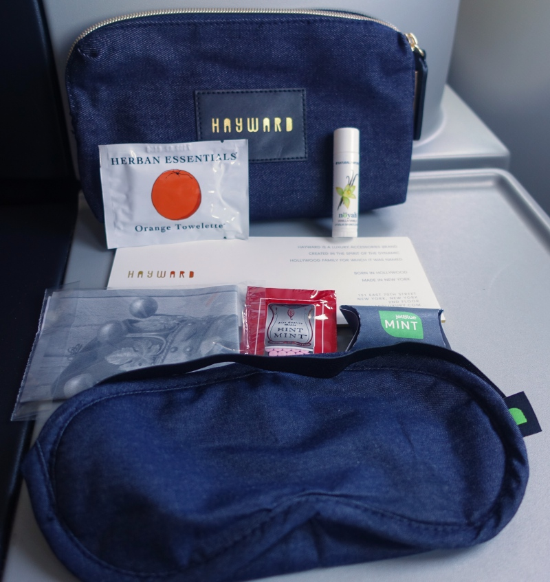 JetBlue Mint Hayward & Hopper Amenity Kit