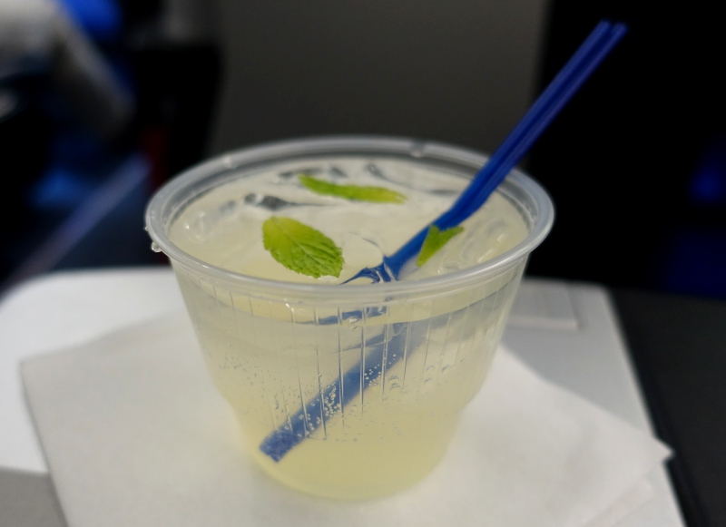 JetBlue Mint Welcome Drink