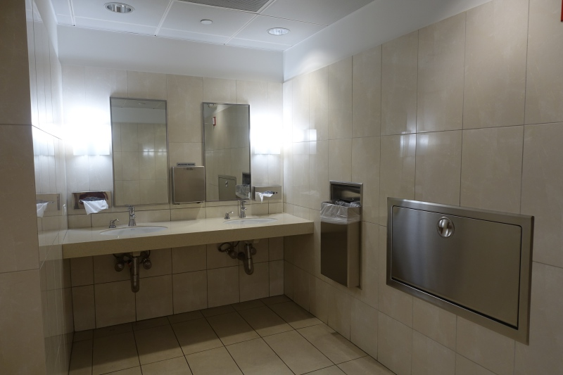 Bathroom, Lufthansa Business Class Lounge JFK Review