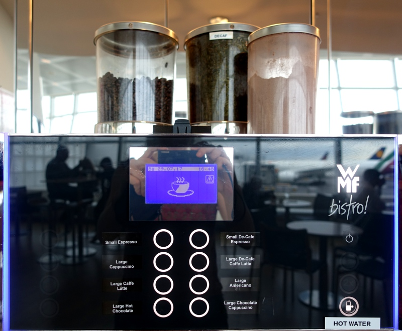 Espresso Machine, Lufthansa Business Class Lounge JFK Review