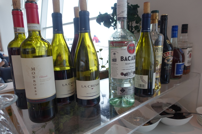 Wine and Spirits, Lufthansa Business Class Lounge JFK Review