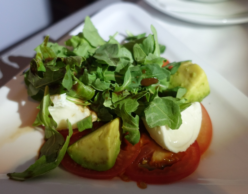 Buffalo Mozzarella, Avocado and Tomato Salad, Austrian Business Class Review