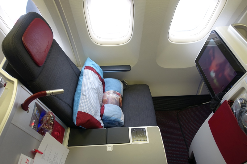 Review: Austrian 767-300 Business Class Seat