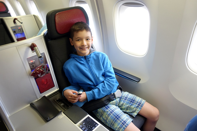 Happy in Window Seat 5A, Austrian Business Class, 767-300 Review