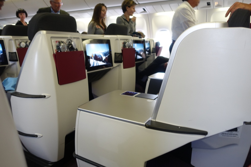 View from Seat 7A, Austrian Airlines Business Class