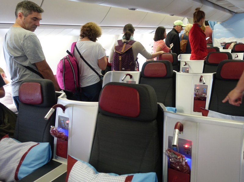 Review: Austrian Airlines 767-300 Business Class Cabin