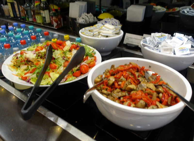 Salads, Jet Lounge, Vienna Airport Review