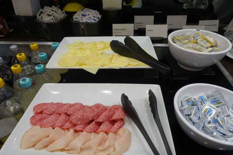 Cheese and Cold Cuts, Jet Lounge, Vienna Airport Review