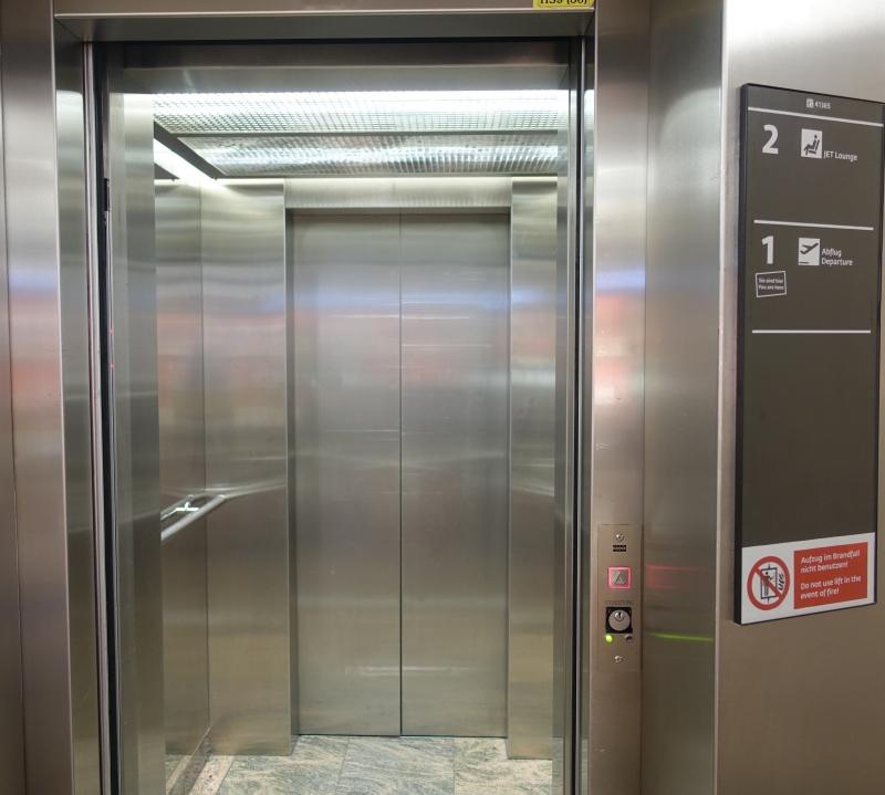 Elevator to Jet Lounge, Vienna Airport