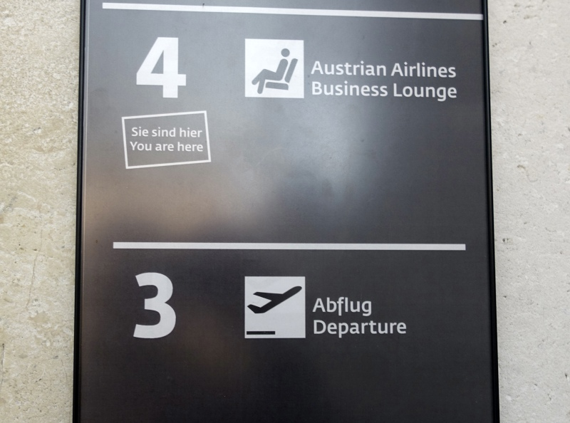 Austrian Airlines Business Class Lounge Review, Vienna Airport on 4th Floor