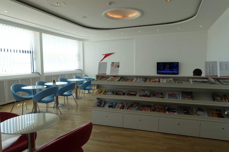 Seating by Magazine Display, Austrian Airlines Lounge, VIE