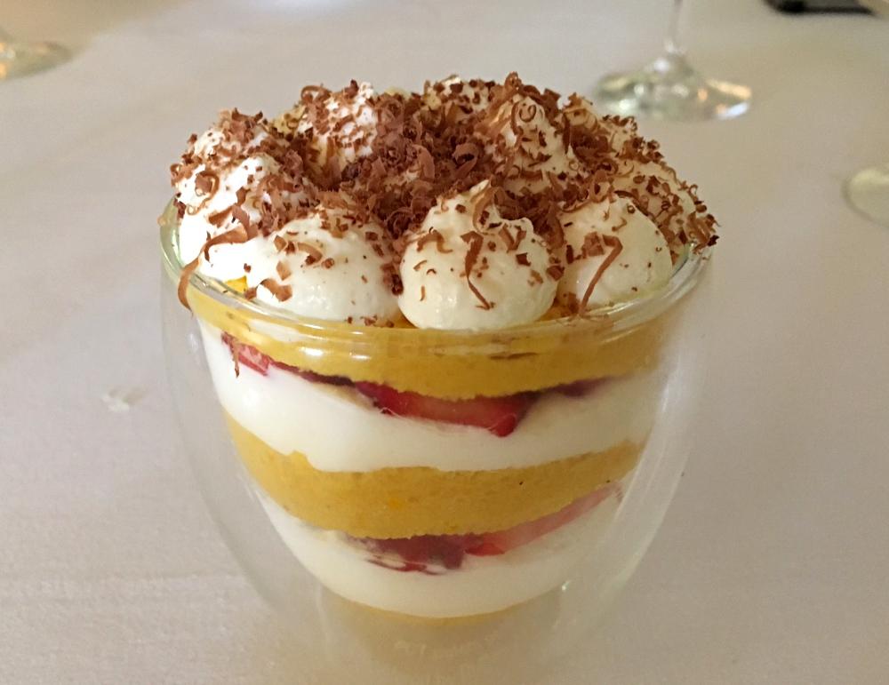 Passion Fruit Strawberry Tiramisu, Laucala Island Resort Review