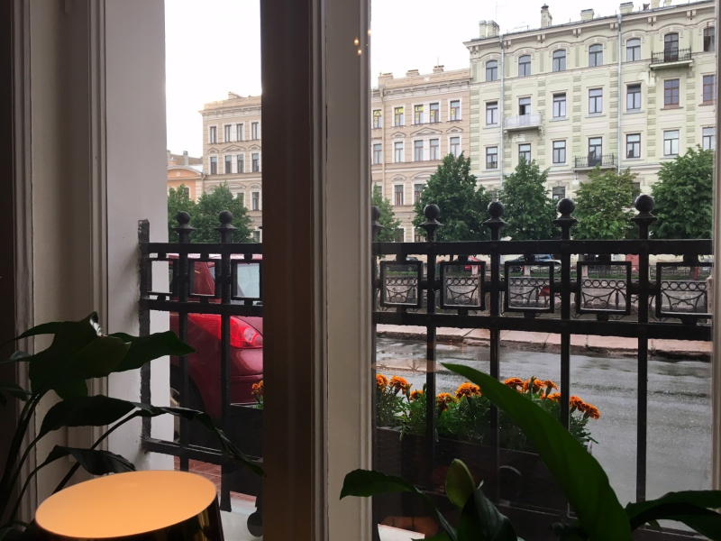 View from Our Table, Dom Restaurant, St. Petersburg, Russia