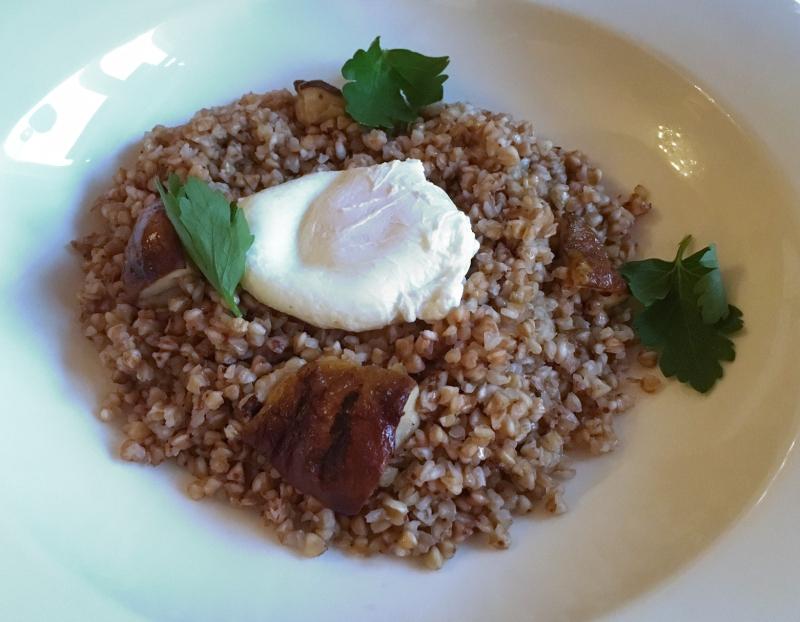 Buckwheat Kasha with Porcini Mushrooms and Egg