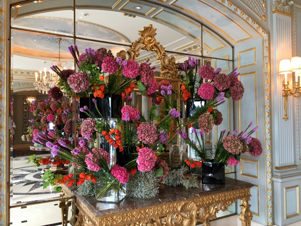 Beautiful Floral Display in Hotel Lobby