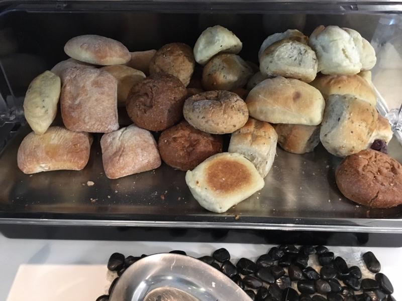 Bread Rolls, SWISS Lounge Review, JFK