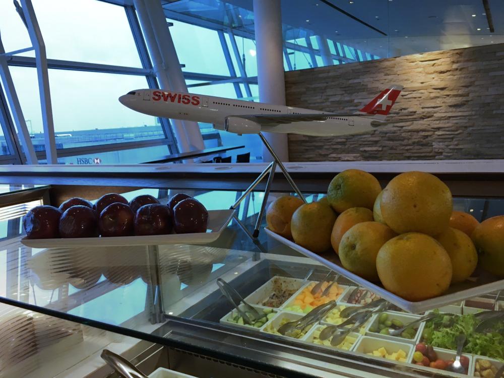 Whole Fruit, SWISS Lounge Review, JFK