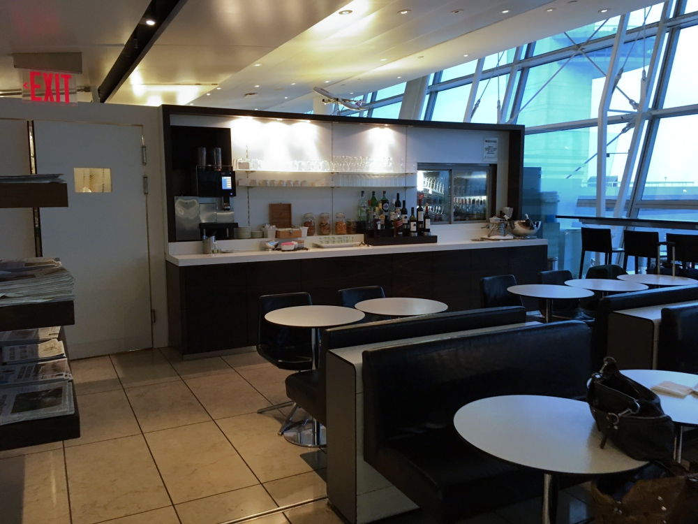 Dining Area and Bar Seating, SWISS Lounge Review, JFK