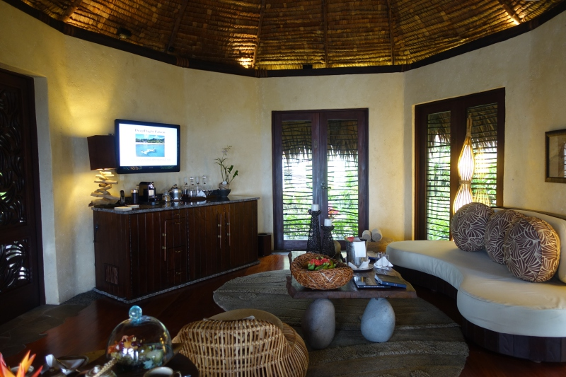 Laucala Plantation Villa Living Room