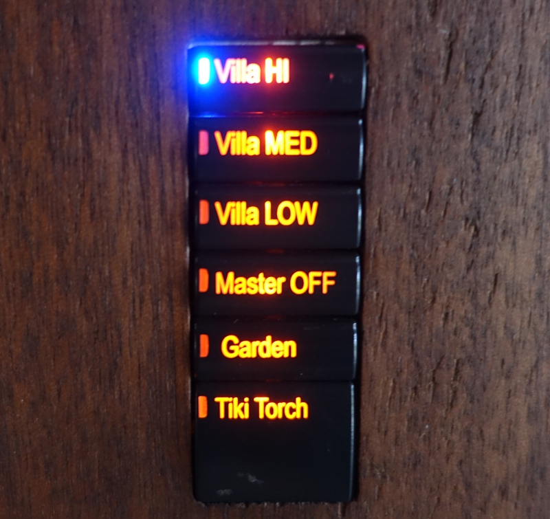 Laucala Light Control Panel