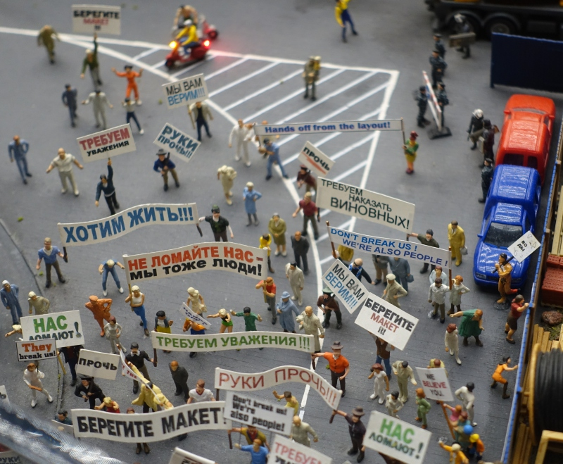 Grand Maket Rossiya: Protest by the Mini Figures