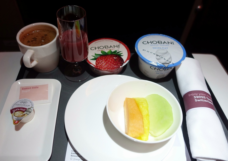 SWISS Business Class Continental Breakfast