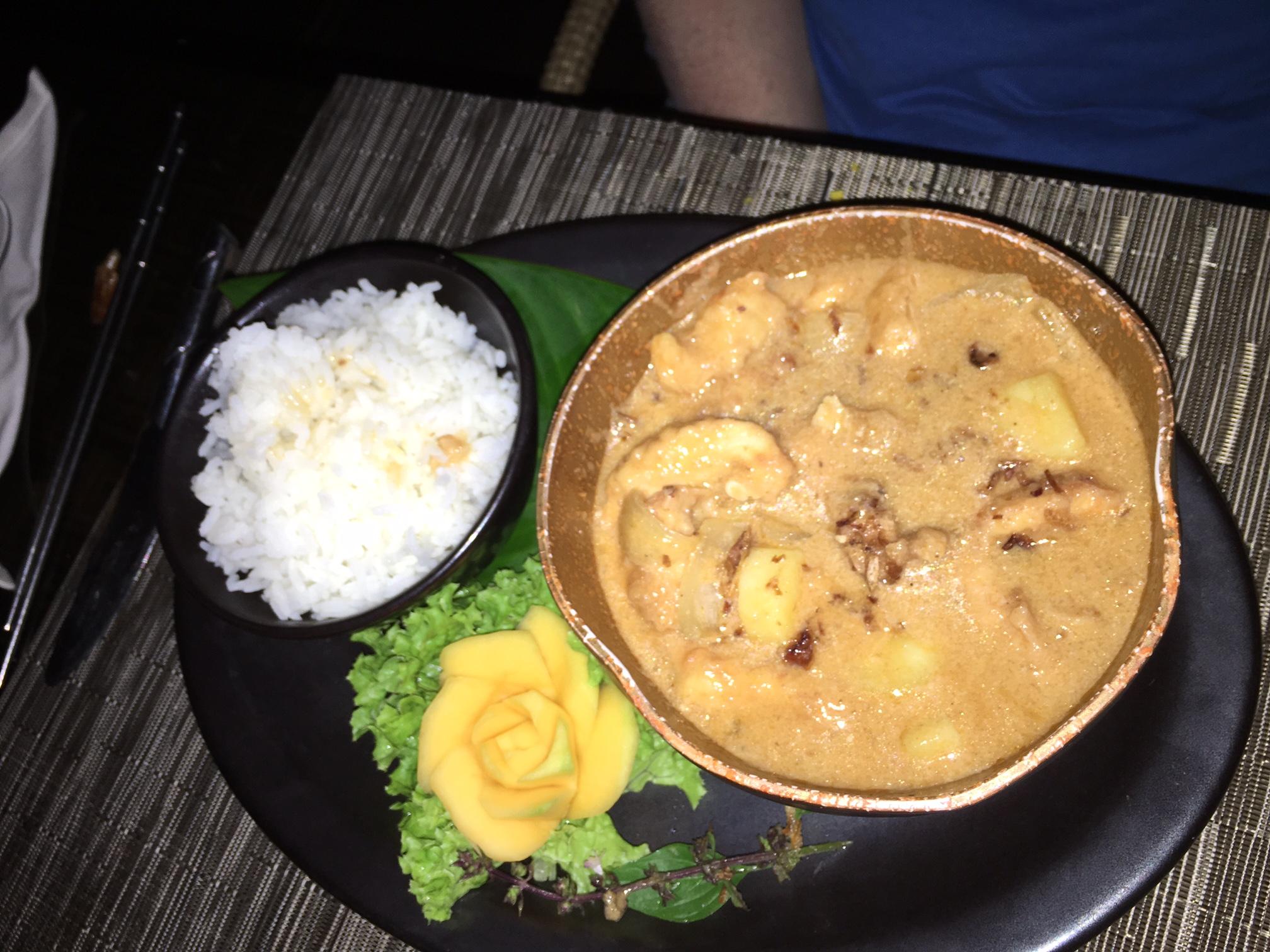 Massaman Curry, Seagrass Restaurant, Laucala Review