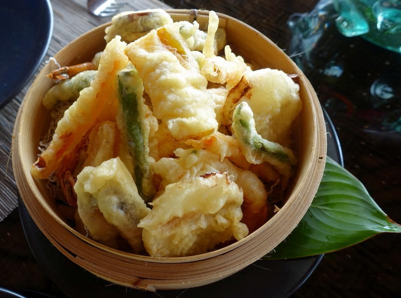 Japanese Tempura, Seagrass Restaurant, Laucala Review