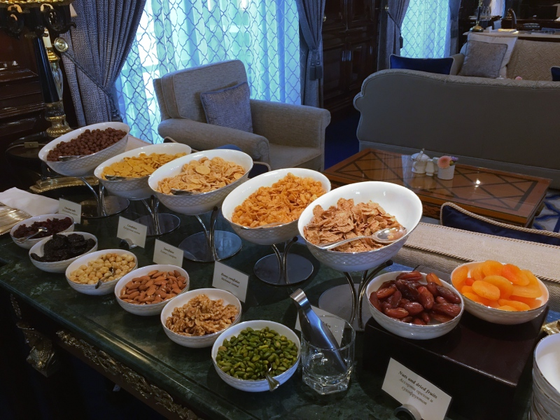 Ritz-Carlton Moscow Club Lounge Breakfast Cereals
