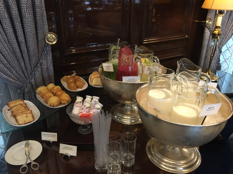 Juices and Milks, Ritz-Carlton Moscow Club Lounge Breakfast