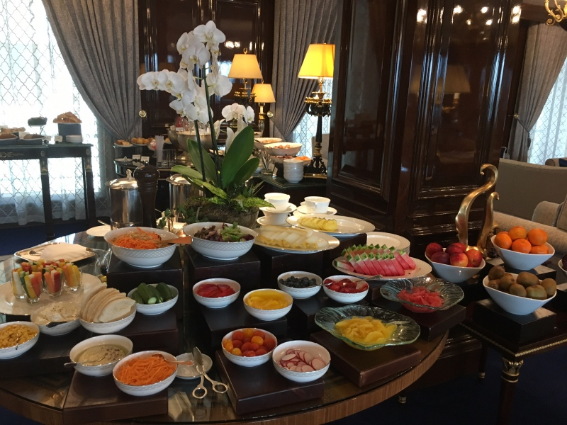 Ritz-Carlton Moscow Club Lounge Breakfast Buffet