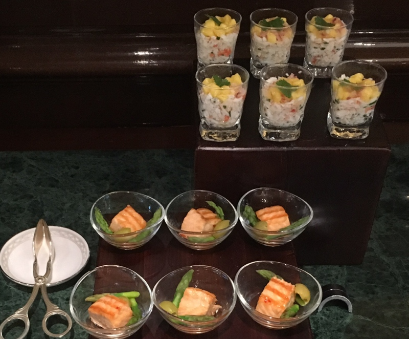 Ritz-Carlton Moscow Club Lounge Evening Hors d'Oeuvres