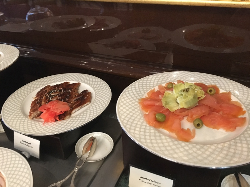 Smoked Salmon and Eel, Ritz-Carlton Moscow Club Lounge