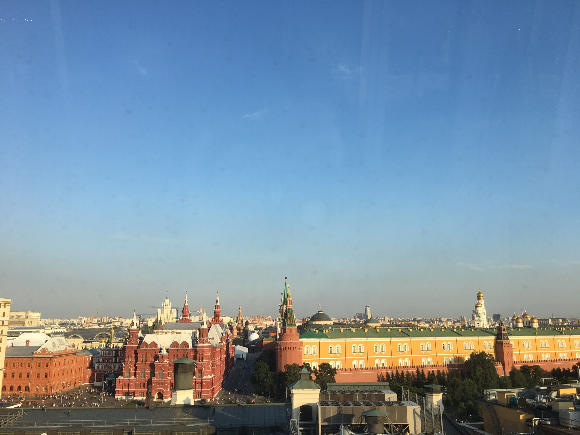 View from Ritz-Carlton Moscow Club Lounge Terrace, Early Evening