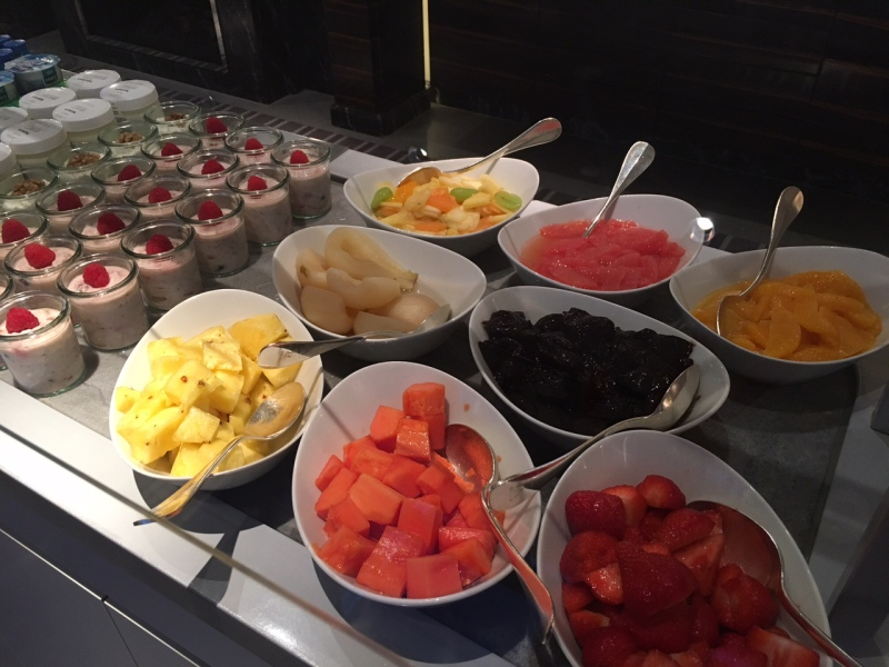 Breakfast Buffet Fresh Fruits and Yogurt, Baur au Lac Review