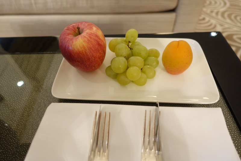Fruit Welcome Amenity, Baur au Lac Review