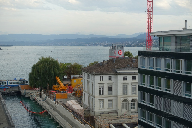 View from Bathroom Window of Junior Suite 531, Baur au Lac Review