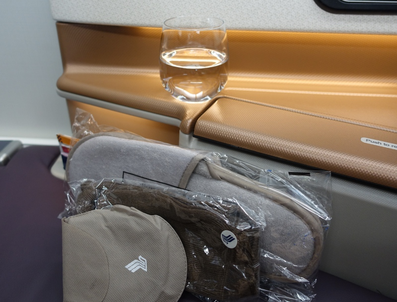 Singapore Business Class Review: Sleep Mask and Slippers