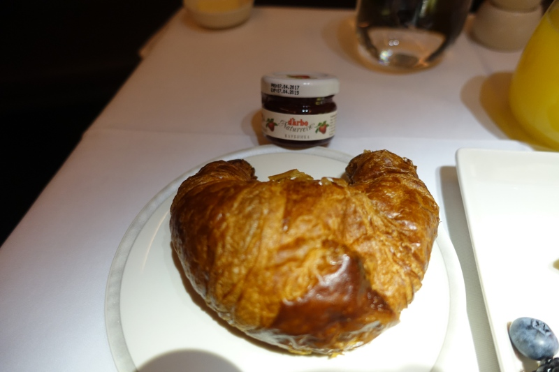 Croissant with d'Arbo Jam, Singapore Business Class Review